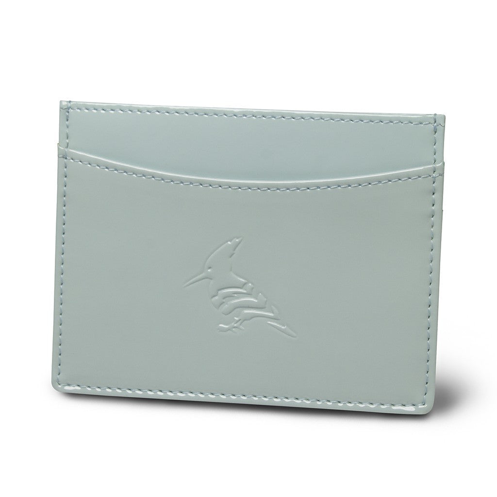 Jade Patent Leather Cardholder Wallet - Pipit