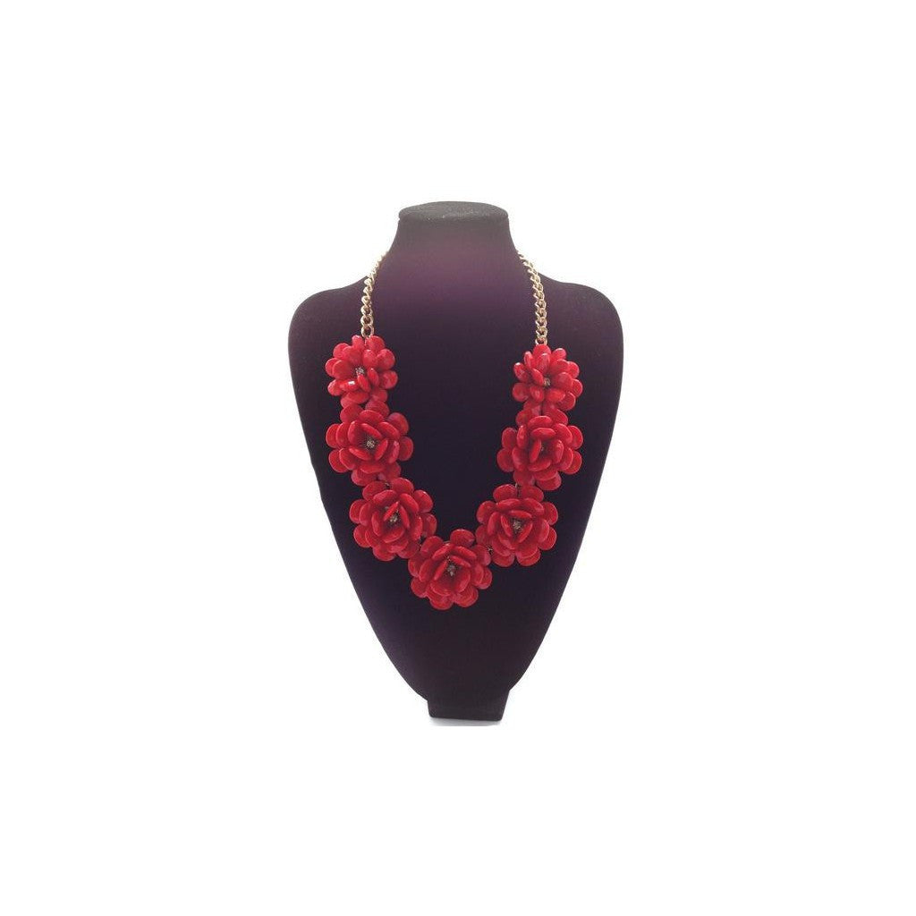 POP Fleur Collar- Red