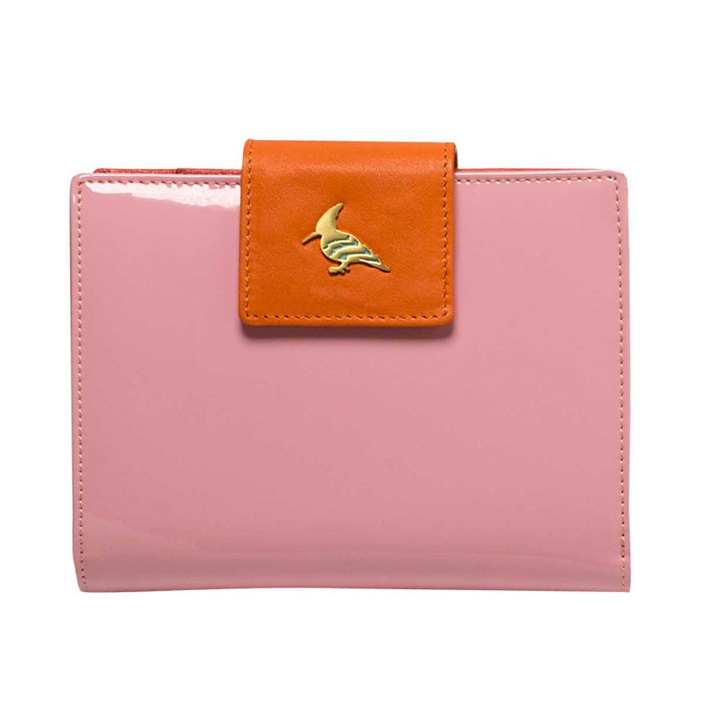 Pink Patent Leather  Wallet - Wren