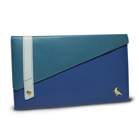 Blue Leather Document/Photo Holder - Sparrow