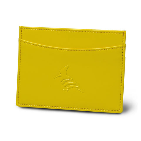 Lemon Patent Leather Cardholder Wallet - Pipit