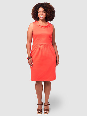 Shift Coral Dress