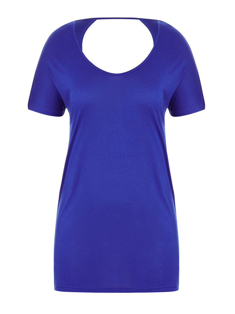 New! - Scoop Back T-Shirt in Cobalt