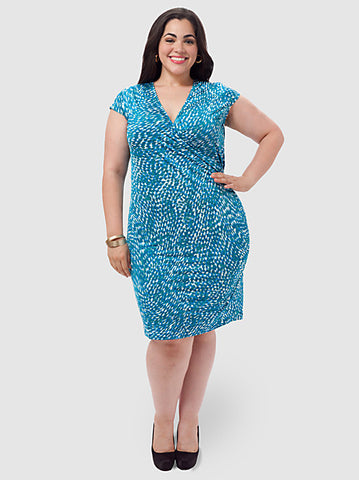 Pebble Print Wrap Dress