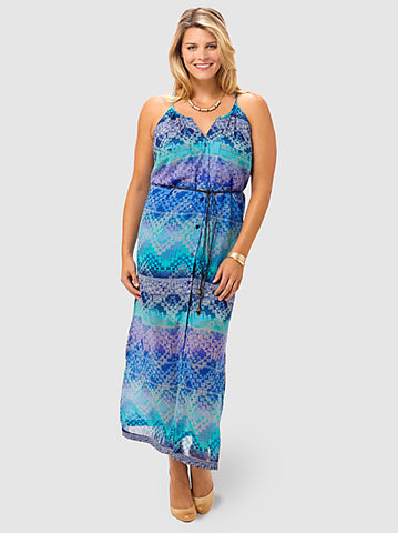 Hyacinth Chiffon Maxi Dress