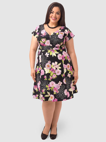Elizabeth Dress In Garden Beauty