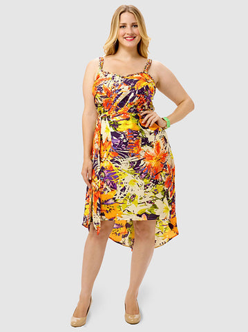 Printed Hi-Lo Dress