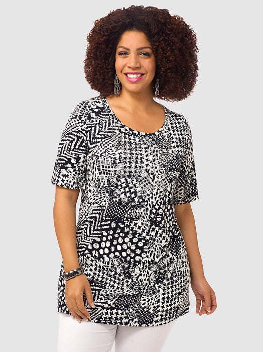Abstract Print Tunic