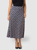 Royal Spot Knit Maxi Skirt
