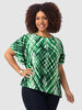 Jungle Print Asymmetrical Top