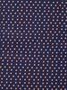 Navy Button Front Shirt In Dots
