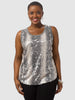 Sleeveless Sequin Front Tank