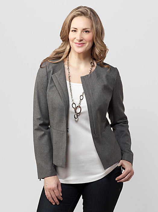 Kate Fit Luxe Flannel Zip Jacket