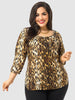 Blurred Leopard Print Top