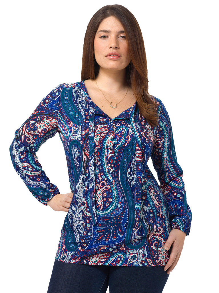 Midnight Paisley Top