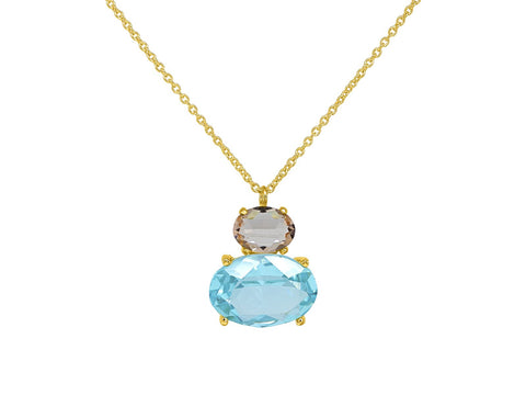 Paraiba Rose Purse Necklace