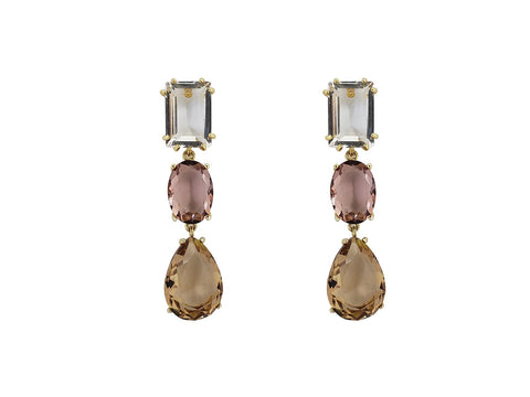 City Centre Crystal Drop Earrings