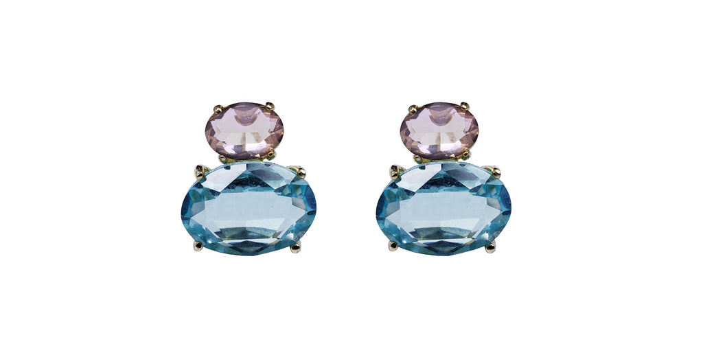 Paraiba Rose Purse Earrings