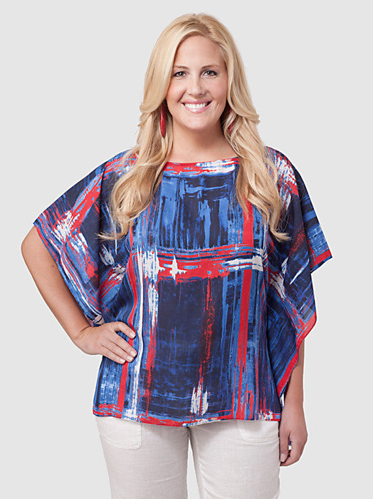 Printed Poncho Top