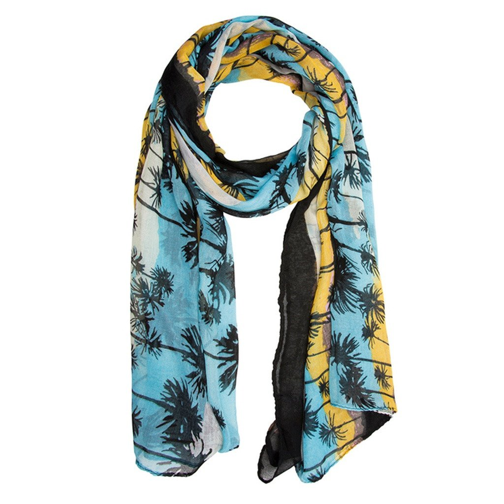 Tropical Scarf in Blue & Yellow