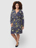 Pattern Georgette Wrap Dress Feathers and Flowers