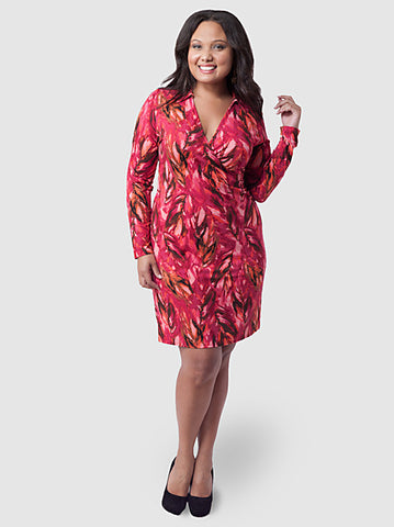 Wearever Printed Wrap Dress