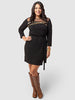 Embellished Bodice Knit Dress