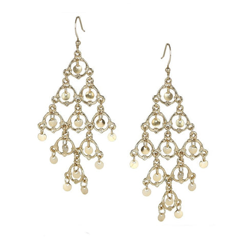 Delicate Tier Chandelier Earrings - Avalible in More Colors