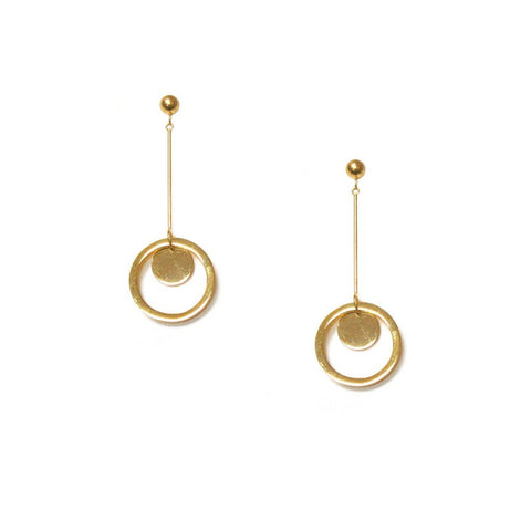 Circle Bar Drop Earrings - Available In More Colors