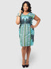 Split Sleeve Easy Dress Classic Green