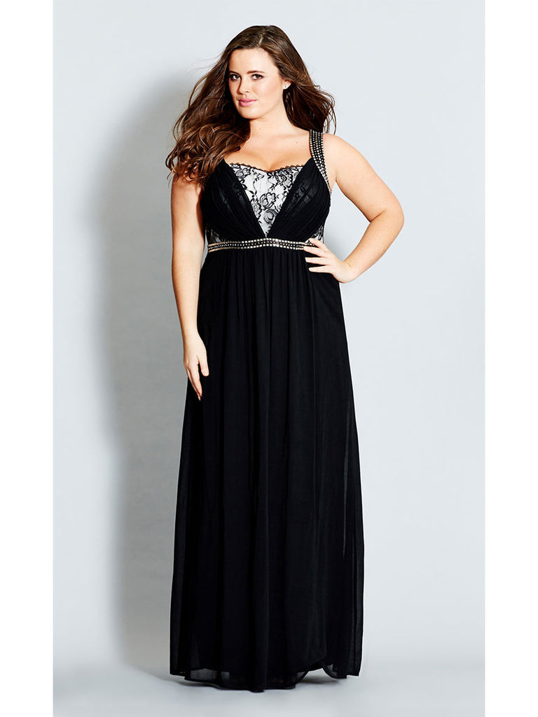 Lace Trimmed Love Maxi Dress