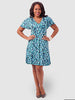 Blue Brushstroke Dress