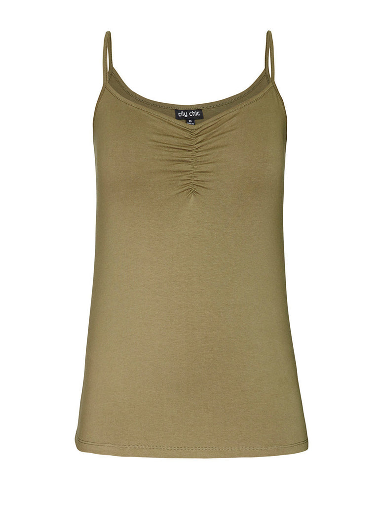 Colored Gather Front Cami