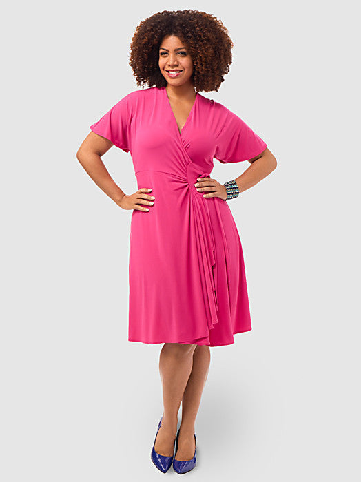 Jersey Wrap Dress In Pink