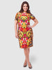 Floral Animal Sheath Dress