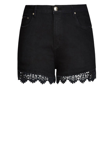 Crochet Trim Short Short