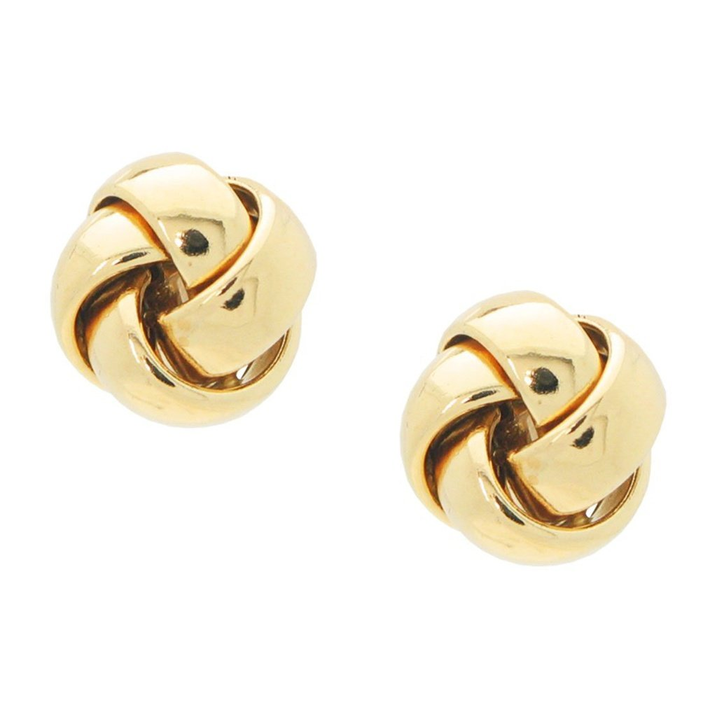 Gold Grande Thick Love Knot Post Earrings