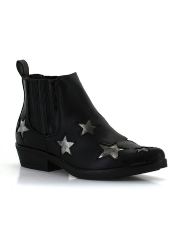 Rock Star Bootie In Black
