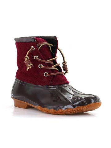 Goose Wool Duck Boot In Claret