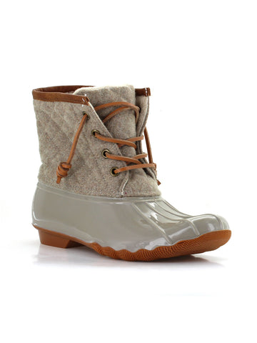 Goose Wool Duck Boot In Latte