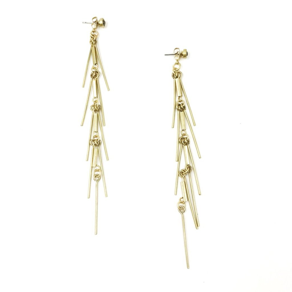 Fringe Jacket Earrings