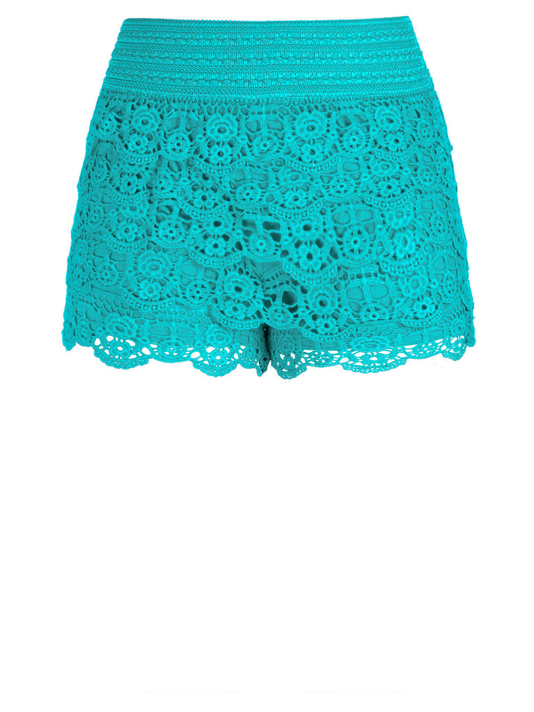 Layered Lace Shorts In Kryptonite