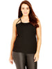 Cut Out Racer Tank In Black