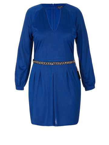 Peekaboo Playsuit In Cobalt
