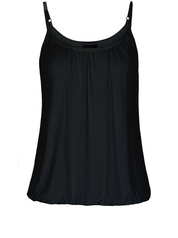 New! - Bubble Hem Cami In Black
