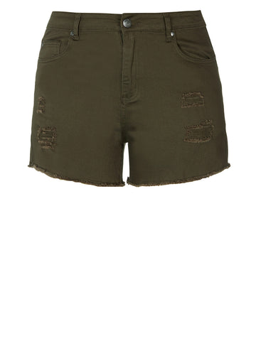 Explorer Short Short In Olive