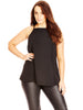 High Square Cami In Black