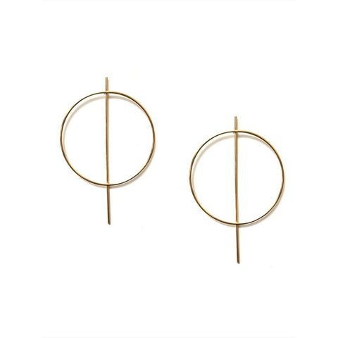 Circle Bar post Earrings - Available In More Colors