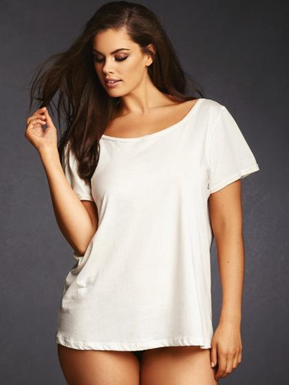Super Soft Cotton V Back Tee