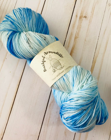 Baby Blue Eyes - Fingering/Sock Yarn